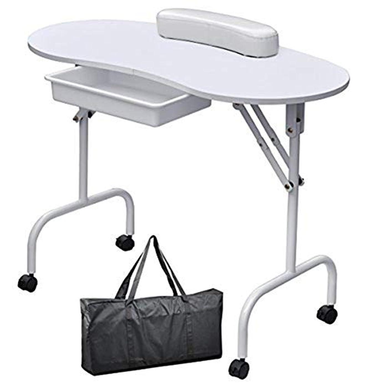 差馬力起きているマニキュア卓上ネイルテーブルネイル技術者折りたたみデスクワークステーションwithbagリストレストアートビューティーサロン家具