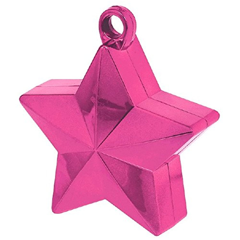 Twinkle Starバルーン重量パーティー装飾、明るいピンク、プラスチック箔、6.0オンス