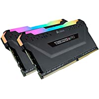 CORSAIR DDR4-2666MHz デスクトップPC用 メモリモジュール VENGEANCE RGB PRO シリーズ 16GB [8GB×2枚] CMW16GX4M2A2666C16