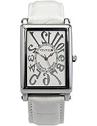 [フランク三浦]FRANKMIURA 腕時計 初号機 逆回転 革ベルト ホワイト FM01G-W