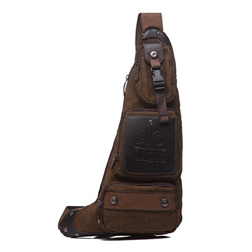 領事館再生良性Outdoor Tactical Crescent Style Shoulder Sling Pack Military Sport Bag Daypack for Camping Hiking Trekking Style1-Coffee [並行輸入品]