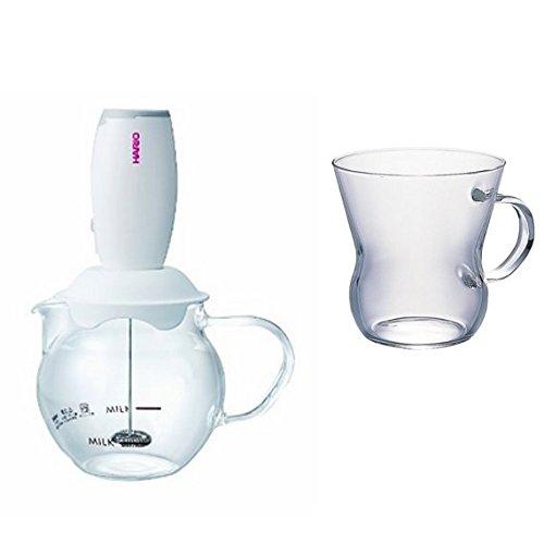 【セット買い】HARIO (ハリオ) ミルク 泡立て器 クリーマーキュート & 耐熱 マグ セット