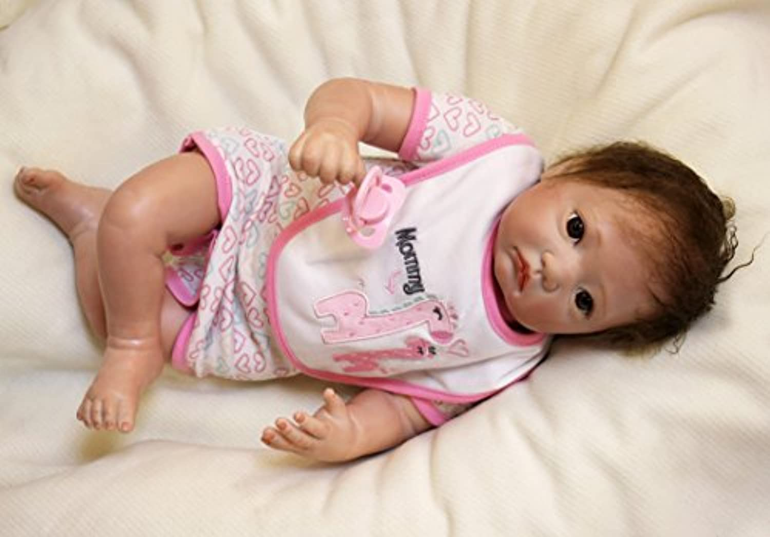 So Realistic Reborn Babies人形ソフトビニールFake Preemie Girl Look Real Rootedモヘアインタラクティブ子供玩具、20インチ