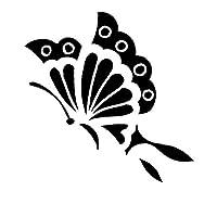 エアブラシ ボディージュエリー ヘナタトゥー用ステンシル/和蝶(反転)#370 H:10cm