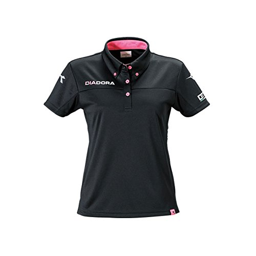 ディアドラ(DIADORA) レディース DTF W ポロシャツ DT4377 1702 ウィメンズ 婦人 9943(ブラック×ピンクFL) M