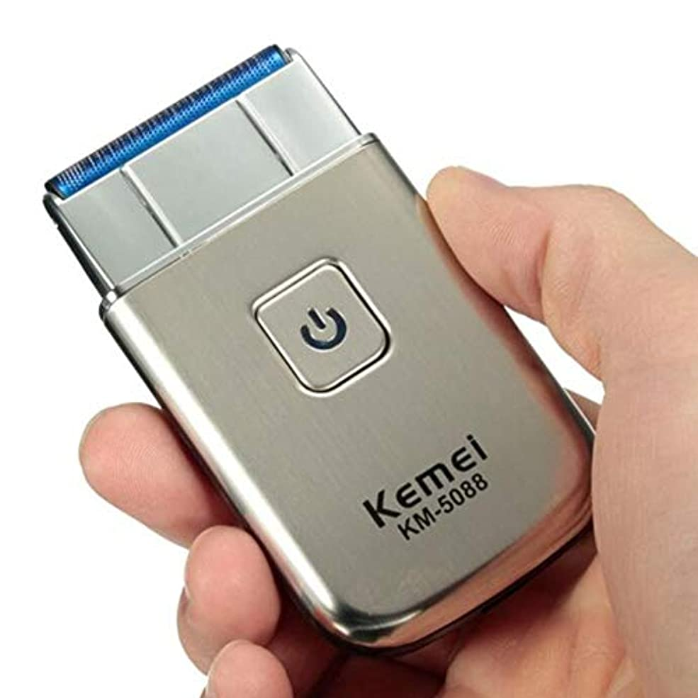 日焼けオピエート件名ミニポータブルメンズ電気USB充電式コードレスひげ髭剃り機Kemei KM - 5088