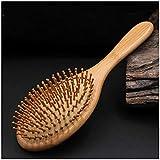 ZYDP 木のヘアブラシの純粋なタケ木のヘアブラシの反静的なマッサージの毛の櫛 (色 : Round)