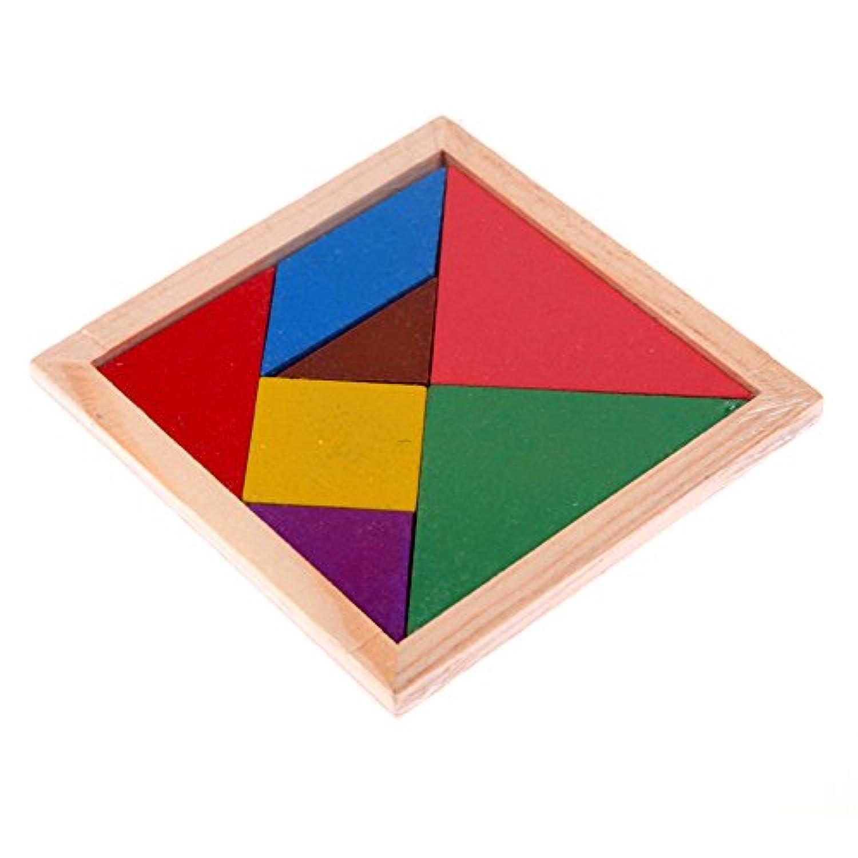 Vktech  形合わせ 木製ブロック パズル 幼児 たんぐらむ 子供知育おもちゃ