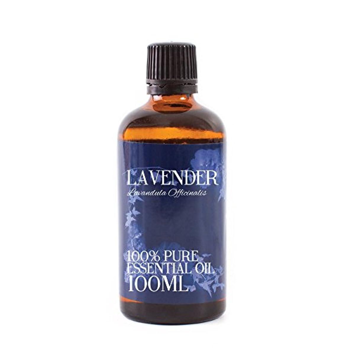姿を消す倍増吐くMystic Moments | Lavender Essential Oil - 100ml - 100% Pure