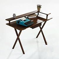 北欧の木の机のデスクトップコンピュータの寝室の研究家庭の学生の学習机の近代的なミニマリストのコンピュータのテーブル ( 色 : ブラッククルミ色 , サイズ さいず : 80cm*50cm*86cm )