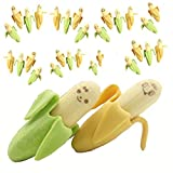 UTST おもしろい 消しゴム フルーツ バナナ 緑 黄色 10個 こども 用 誕生日 景品 プレゼント に (30)