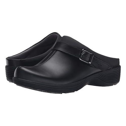 (ダンスコ)Dansko レディースクロッグズ・ミュール・スライド・靴 Carnation Black Leather US Women's 5.5-6 23-23.5cm Regular [並行輸入品]