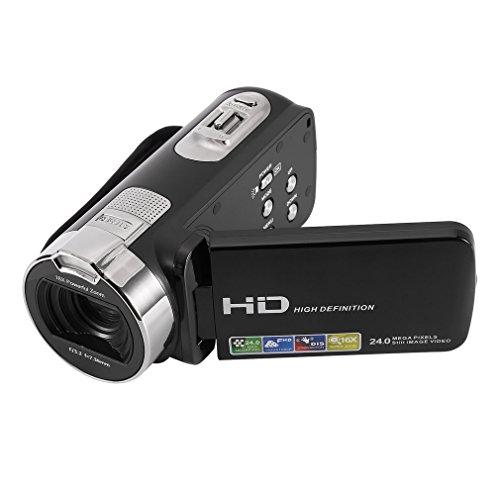 ICOCO ビデオカメラ HD1080P コンパクト 16倍...