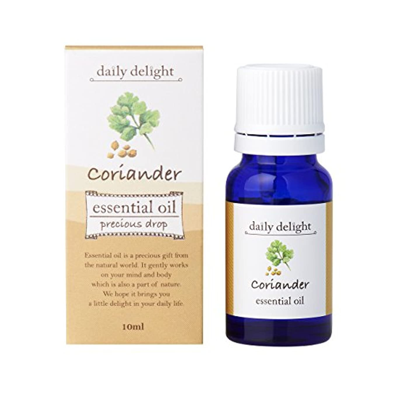 デイリーディライト エッセンシャルオイル コリアンダー 10ml(天然100% 精油 アロマ スパイス系 やや甘みのあるスッとしたスパイシーな香り)