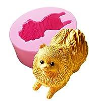 【Ever garden】 ポメラニアン 犬 立体 動物 シリコンモールド レジン アロマストーン 手作り 石鹸 キャンドル 樹脂 粘土 オルゴナイト 型 抜き型