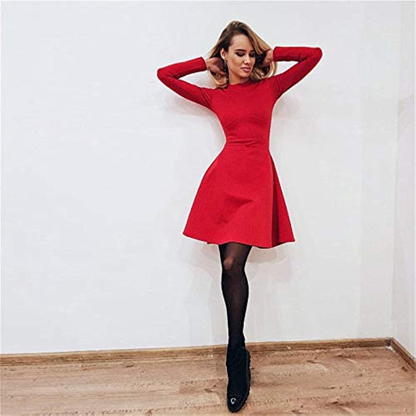対抗から聞くシャイOnderroa - 秋と冬の新しい女性の長袖タイトフィットドレスの秋と冬のスリムでエレガントな品質のミニドレス