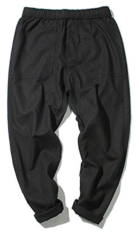 メンズ パンツ 麻パンツ 綿麻 リネン 上質 ロングパンツ ジョガーパンツ 夏用 無地 ズボン ゆったり 通気 涼しい カジュアル