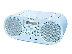 ソニー SONY CDラジオ FM/AM/ワイドFM対応 ブルー ZS-S40 L