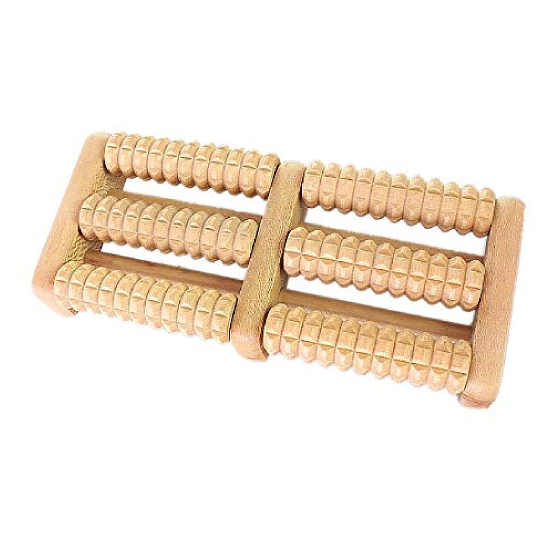 弱める送る従順な足裏マッサージローラー 多機能木製フットマッサージャーポータブルデュアルマッサージローラー人間工学に基づいたデザインマニュアルフットマッサージャー 軽量で使いやすく、足の痛みを和らげます (Color : As picture, Size : 27.5x12x4.5cm)
