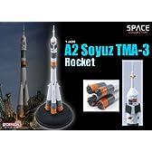 プラッツ 1/400 ロシア A2ソユーズ ロケット TMA-3 プラモデル DRAGON