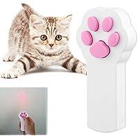 QZSKY 猫おもちゃ ペット用品 ビーム・光る 遊具LED ポインター赤外線 電池なし 運動不足やストレス解消 猫遊び用 (ホワイト)
