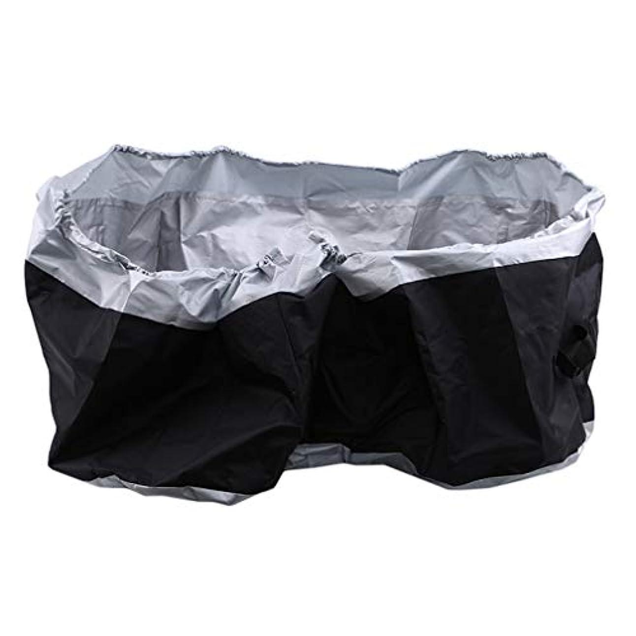 ラフト一口ティーンエイジャーHKUN タイヤカバー タイヤ収納 直径85cm タイヤ保管 雨よけカバー ホイールカバー 屋外 屋内 防水 防塵 タイヤ劣化防止黒色+銀色