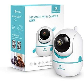 1080P ネットワークカメラ ワイヤレスIP防犯カメラ WIFI ベビーモニター 双方向音声 アラーム機能/暗視撮影 ペット/車/留守番/見守り スマホ/ipad/パソコンに対応 200万画素HeimVision HM202 日本仕様
