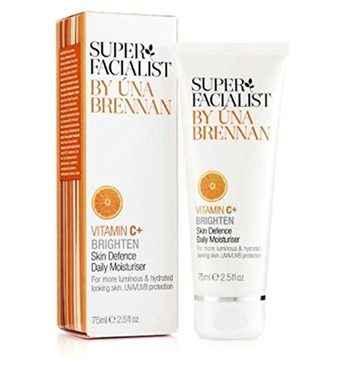 英語の授業があります抑止する難しいスーパーFacialistのビタミンC +皮膚の防衛毎日の保湿75ミリリットル (Superfacialist) (x2) - Super Facialist Vitamin C+ Skin Defence Daily...
