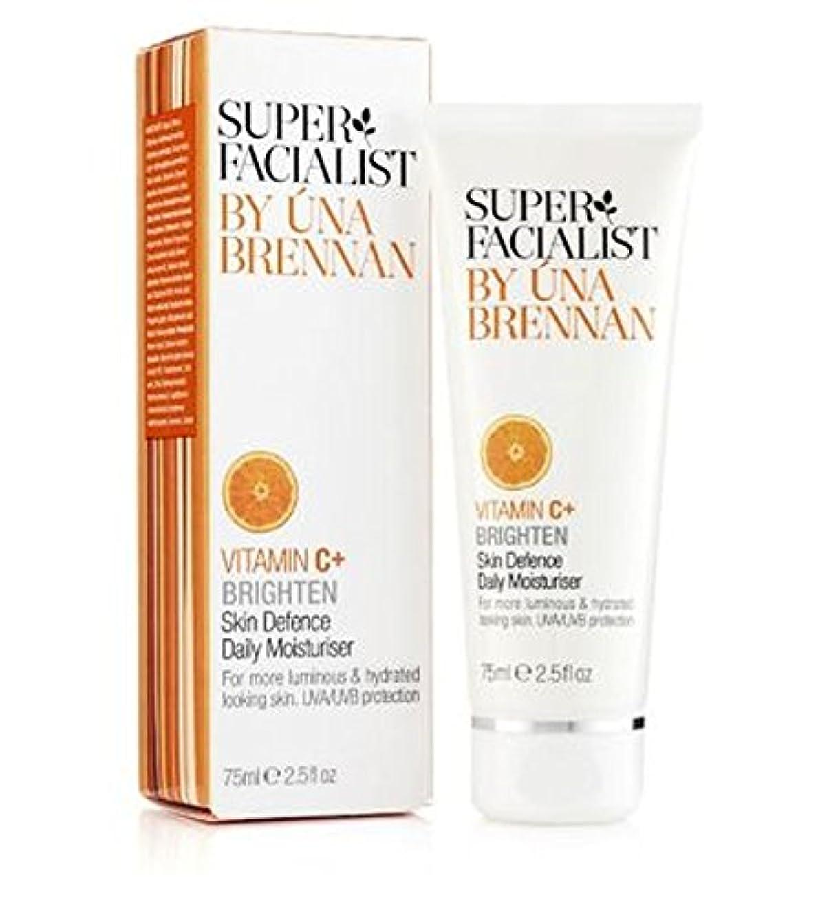 炭水化物退却値するSuper Facialist Vitamin C+ Skin Defence Daily Moisturiser 75ml - スーパーFacialistのビタミンC +皮膚の防衛毎日の保湿75ミリリットル (Superfacialist...