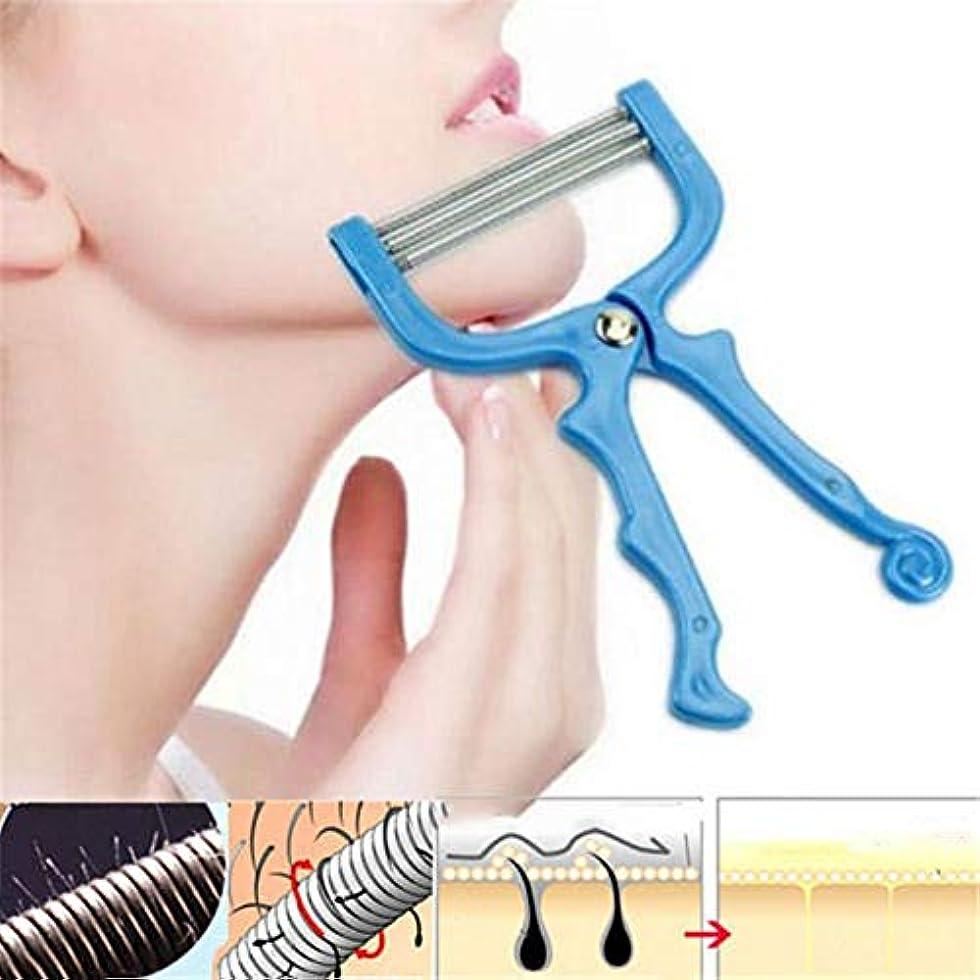 フェンスベーコン費やすSILUN 手動脱毛器 顔/腕/足/脇/ビキニエリアで使用する リムーバー フェイシャルヘアリムーバースプリングフェイシャルヘアスレーター除毛ツール美容ツール