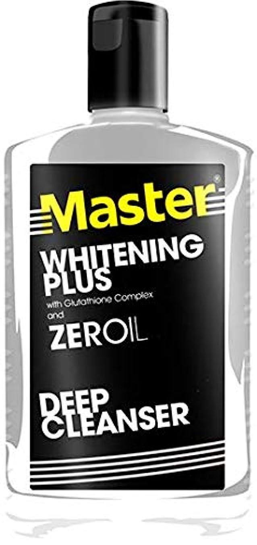 消化器接続されたマウンドMaster WHITENING PLUS ZEROIL DEEP CLEANSER 135ml【PHILIPPINES】