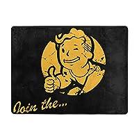 Fallout Vault Boy Logo 2 フロアマット 吸水マット 足ふきマット ホップマット オフィスチェアマット カーペット用 バスマット 屋内 室内 汚れ落とし 滑り止め おしゃれ 抗菌 吸水 厚地 柔らかい