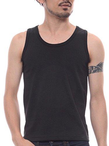(ティーシャツドットエスティー) Tshirt.st 男の必須アイテム インナーでも一枚でも使える シンプル 無地 メンズ タンクトップ 6.2oz スーパーブラック M