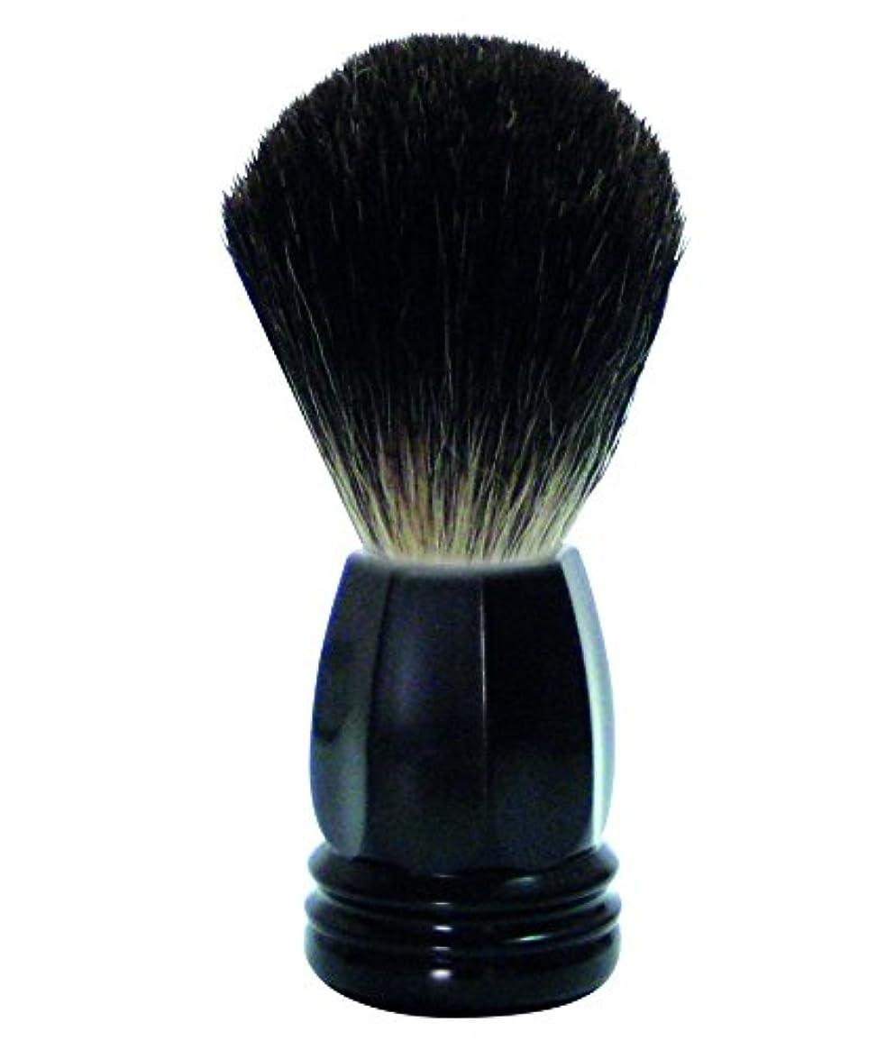 開いたホテルダルセットGOLDDACHS Shaving Brush, 100% Badger hair, black polymer handle