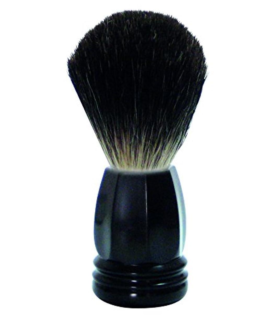 中級お酢フレアGOLDDACHS Shaving Brush, 100% Badger hair, black polymer handle
