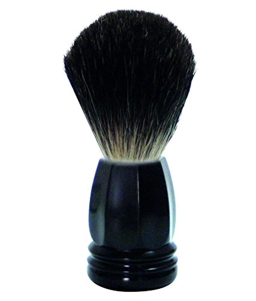 GOLDDACHS Shaving Brush, 100% Badger hair, black polymer handle