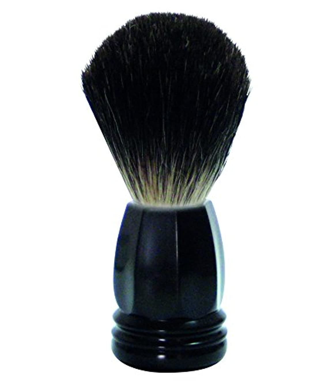 破産ニュース食物GOLDDACHS Shaving Brush, 100% Badger hair, black polymer handle