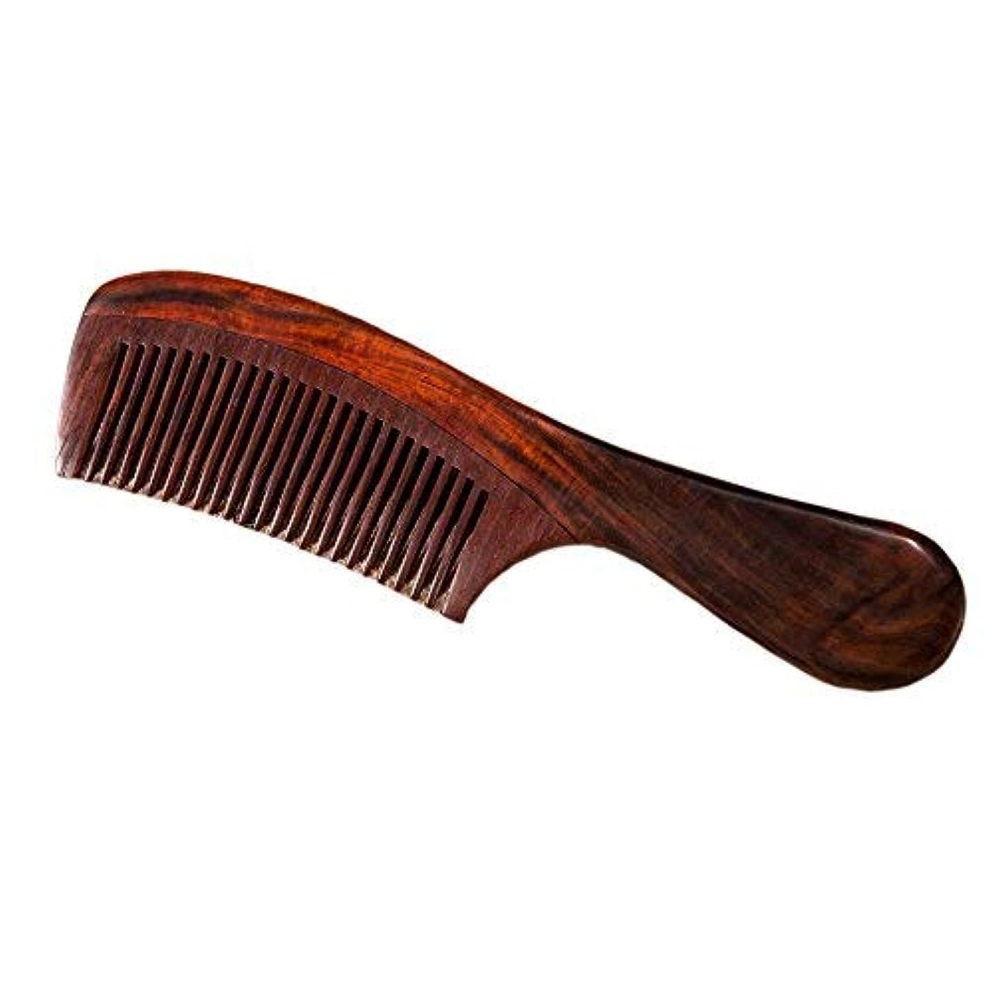 尊敬するモート週末Natural Redwood Hair Comb, No Static Handmade Medium Tooth Hair Comb, Smooth and Comfortable Message Wood Comb...