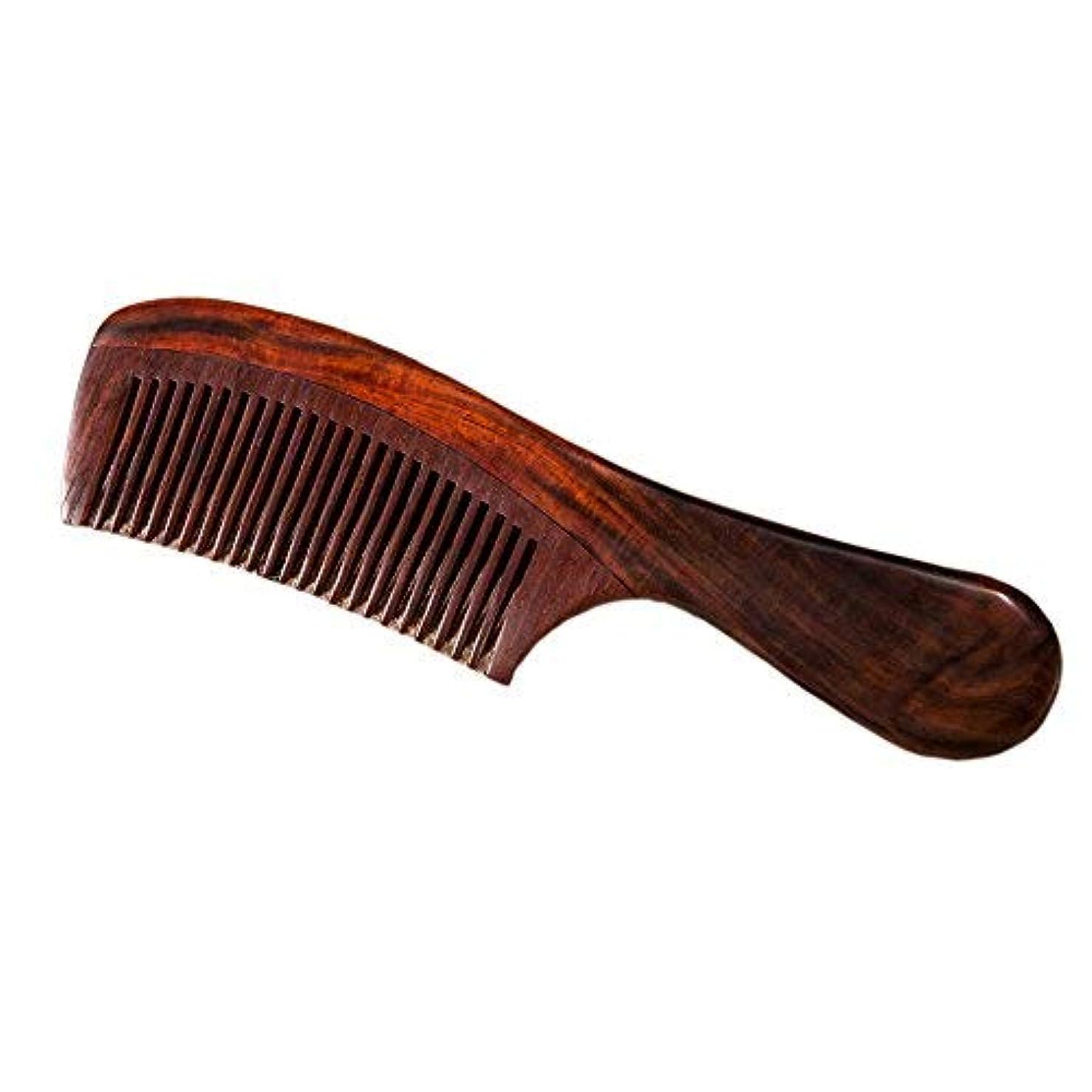 足音統合クレデンシャルNatural Redwood Hair Comb, No Static Handmade Medium Tooth Hair Comb, Smooth and Comfortable Message Wood Comb...