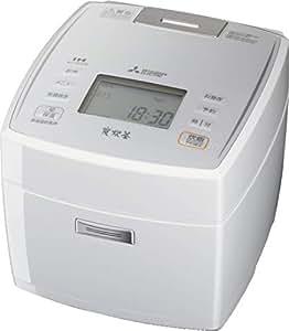 三菱電機 IHジャー炊飯器 備長炭炭炊釜 5.5合炊き ピュアホワイト NJ-VE108-W