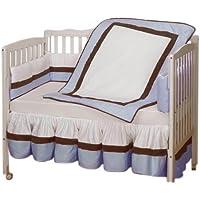 Baby Doll Bedding Classic Crib Bedding Set Ecru [並行輸入品]