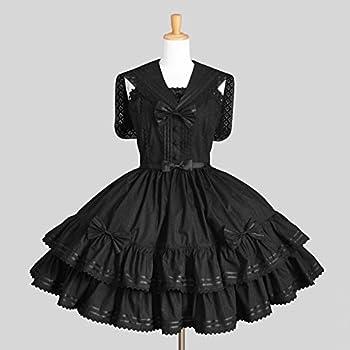 2c03d3943 ゴスロリィタ Lolita ロリータ 衣装 洋服 COSMAMA LLT82623 ブラック ノースリーブ ゴシック ゴスロリ プリンセス お嬢様  レディース 主婦 OL