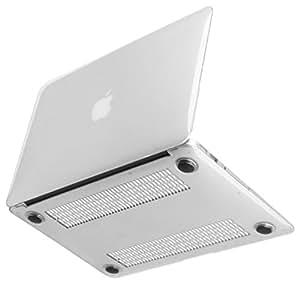 [NEXARY] MacBook Air 11 インチ クリスタル ハードケース / デュアルマイク 対応、目立たない金型跡、丈夫なゴム足、ACアダプタポーチ セット (透明 A11 クリア)