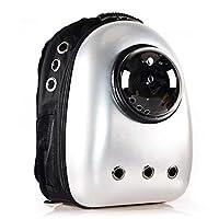 ペット バッグ ペット用キャリーバッグ 宇宙船カプセル型ペットバッグ 犬猫兼用 ネコ ニャンコ 犬 バッグ リュック型ペットキャリー 人気ペット鞄 (PVC) (1)