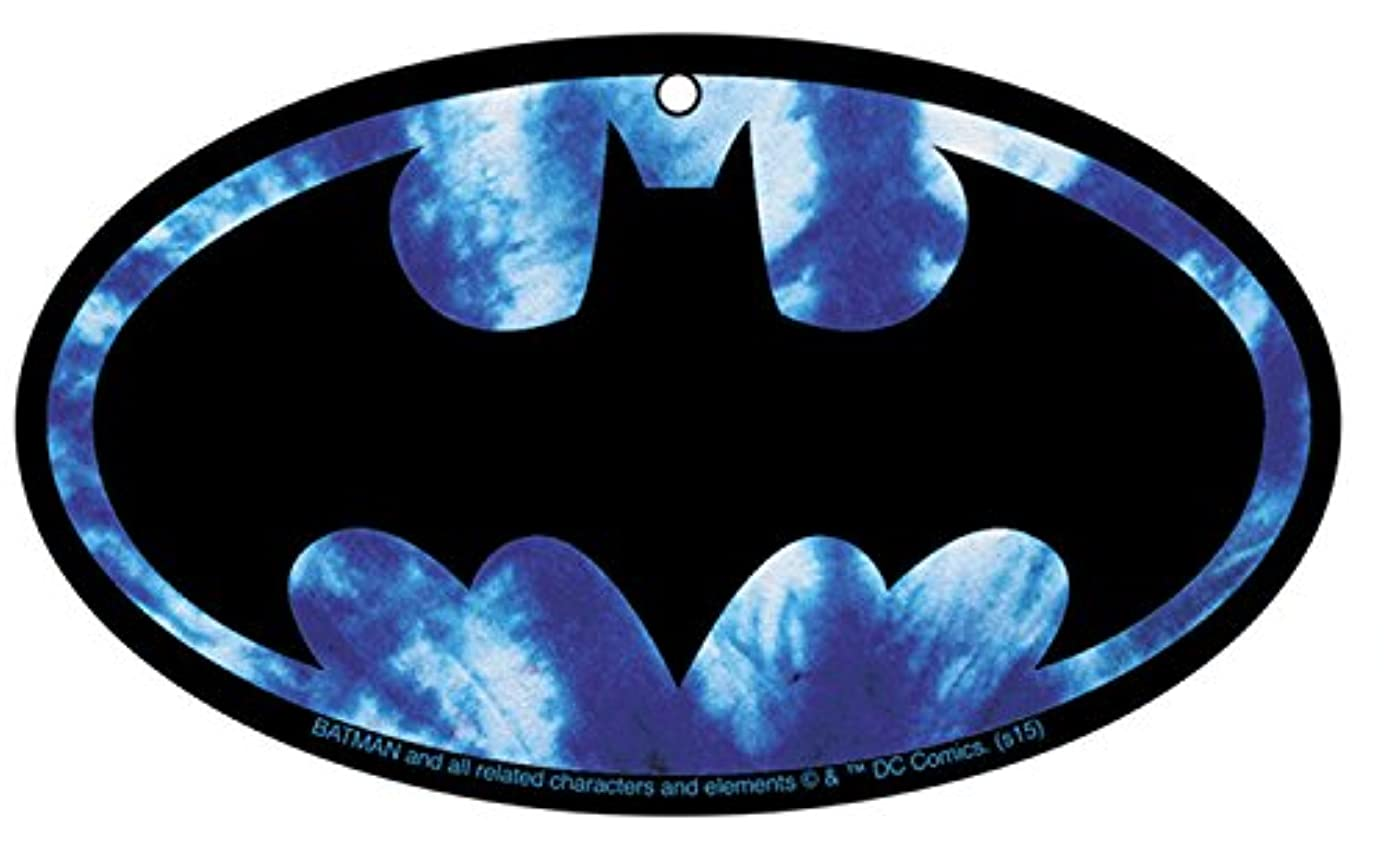 グリルクラウン歩行者Air Freshener DC Comics Batman Tie Dyeロゴ