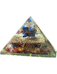crocon Mix Chakra Gemstone Orgone Pyramid with Lapiz Lazuli Merkabaエネルギージェネレータのオーラクレンジング、レイキHealing、チャクラバランシング...