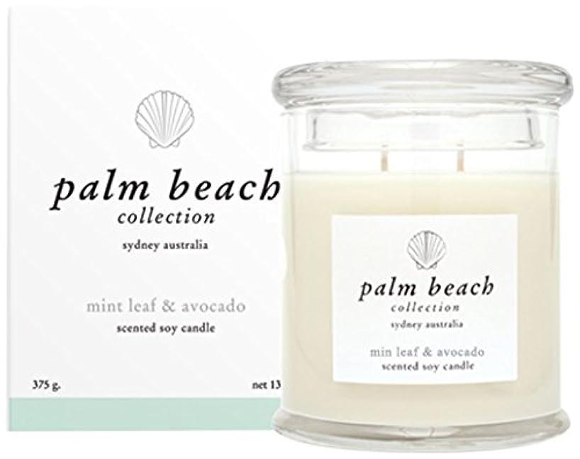 金額振る舞う略すパームビーチコレクション ソイワックススタンダードキャンドル ミントアボカド Palm Beach Collection