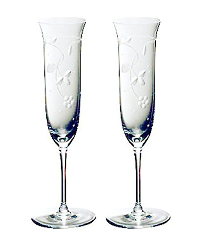 【正規輸入品】 ウェッジウッド ワイルドストロベリー クリスタル シャンパン ペア S4700100001