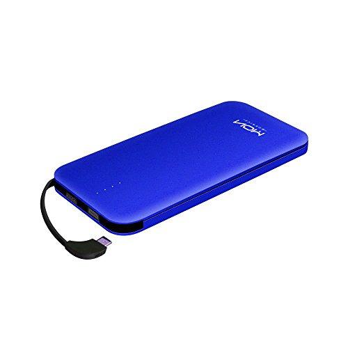 MOXNICE モバイルバッテリー ケーブル内蔵 大容量 軽量 超薄型 10000mah 小型 急速充電 ライトニング コンパクトスマホ 充電器 iPhone & Android対応 …
