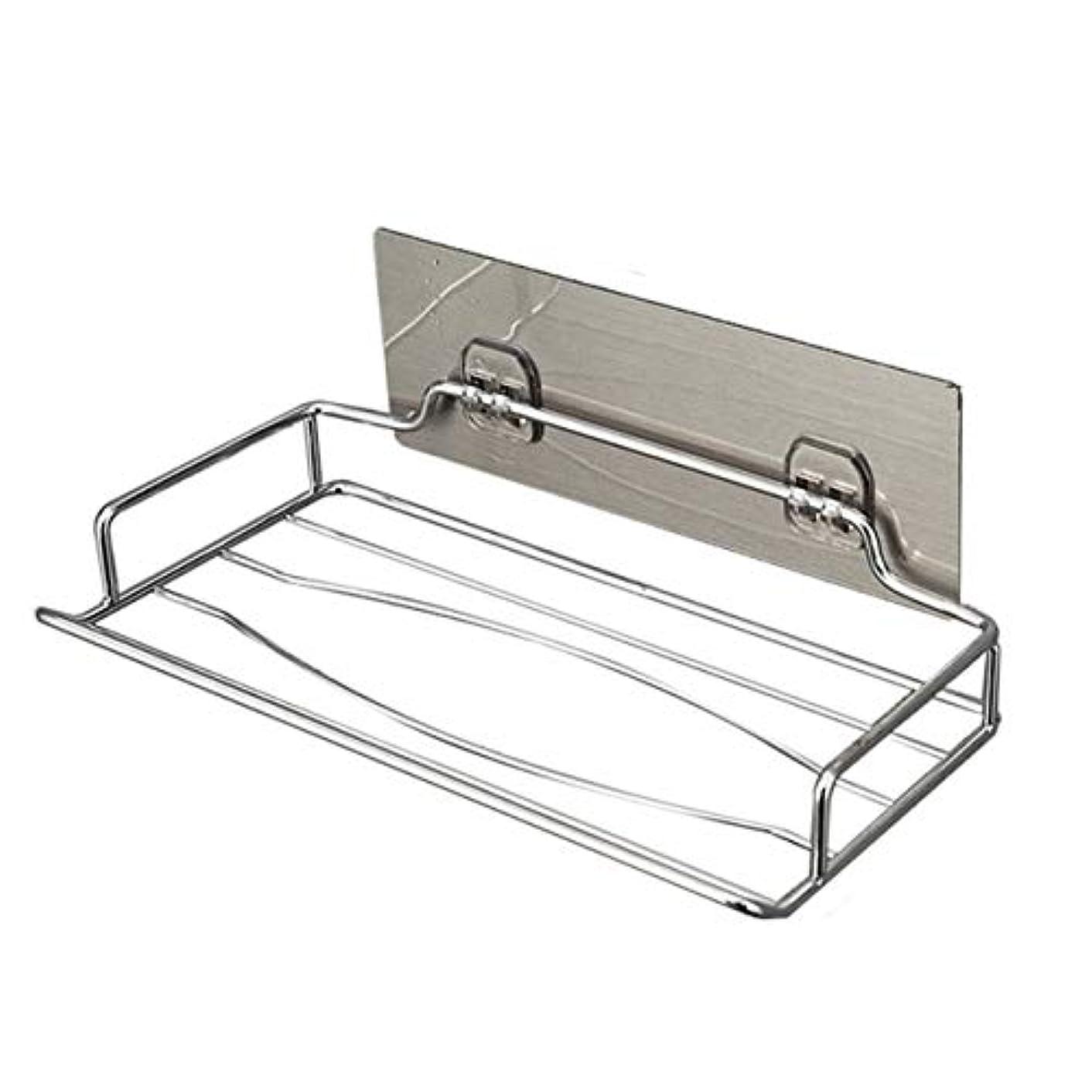筋暖かさステップSaikogoods 実用的なデザインステンレススチール壁掛けトイレットペーパーホルダーホーム浴室キッチンペーパーティッシュボックスホルダーハンガー 銀